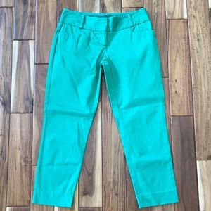 The Limited Green Petite Capris